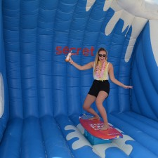 Experiential marketing: Secret surfing photo op in Panama City Beach