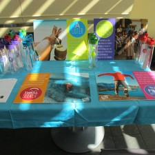 Marketing to millennials: STA Travel promo table on a college campus