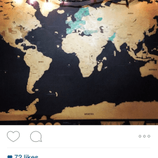 STA Travel brand ambassador shares world map in word of mouth marketing
