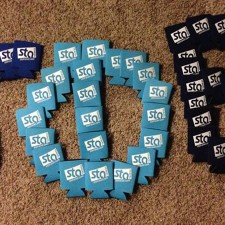 STA Travel can coozies