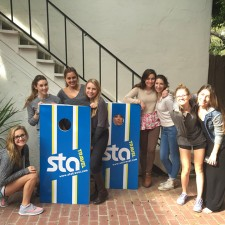 marketing to millenniels with an STA Travel cornhole game