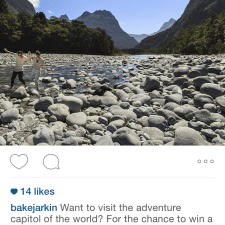 word of mouth marketing from a brand ambassasor about the STA Travel New Zealand sweepstakes