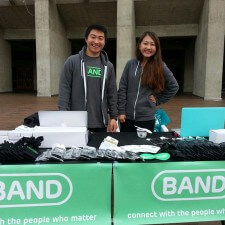 Peer to peer marketing for millennials with plenty of Band promo items