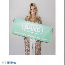 College brand ambassador uses word of mouth marketing to promote Band to friends