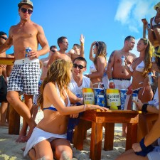 Co-eds in Corona wear, Corona beer pails and more provided marketing to millennials on spring break in Mexico