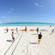 Corona's experiential marketing campaign includes beach volleyball with Corona equipment