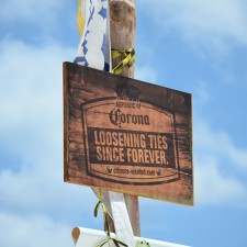 Marketing to millenials with signage on the beaches of Mexico: Corona, loosening ties since forever