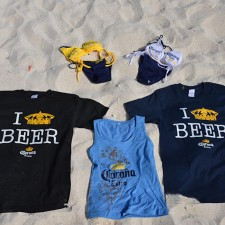 Marketing to millenials with Corona beach wear: t-shirts, tanks and bikinis