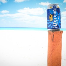 Corona on the beach in Cancun, Mexico
