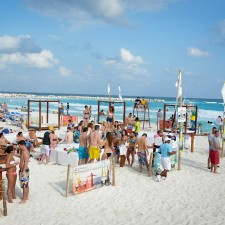 Corona experiential marketing on the beaches of Mexico