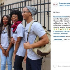DePaul brand ambassadors employ peer to peer marketing on social media to promote a Timberland fashion show