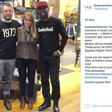 Timberland brand ambassadors at DePaul University use social media for word of mouth marketing about special events