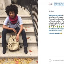 DePaul brand ambassador employs peer to peer marketing on social media to promote a Timberland fashion show