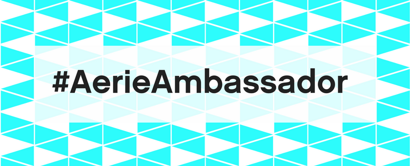 Aerie brand ambassador team hashtag
