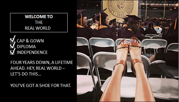 "improved ""Welcome to the Real World"" Nine West ad targeting Millennial women"