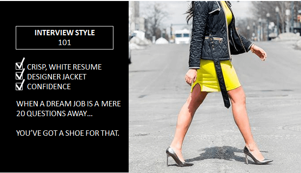 "improved Nine West ""Interview Style 101"" ad targeting Millennial women"