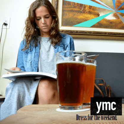 """Dress for the weekend"" Millennial fashion ad from YMC"