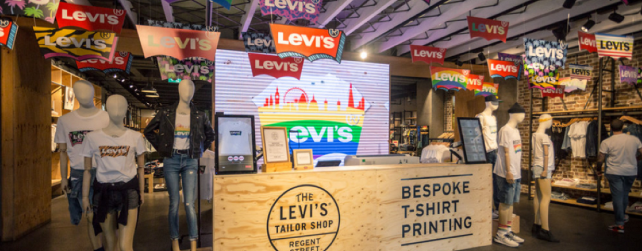 Levi's college marketing includes on-campus retail