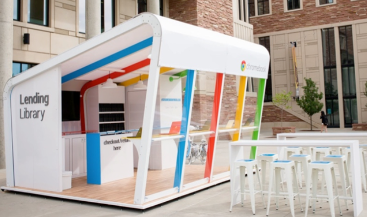 Google Chrome pop-up shop